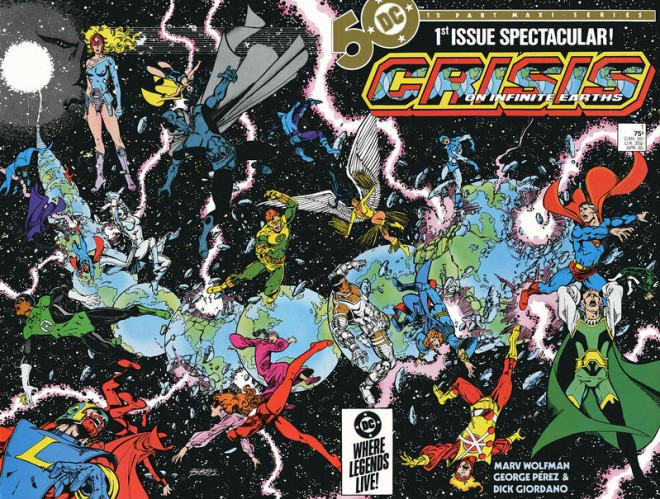 'Crisis on Infinite Earths' No. 1 cover