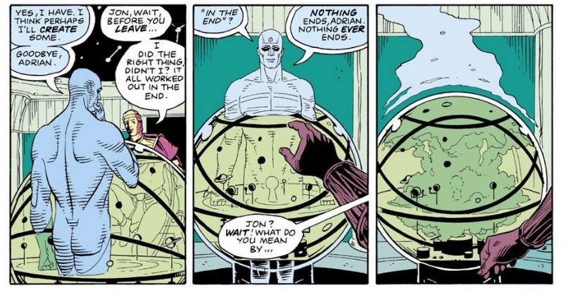 Dr. Manhattan, Ozymandias 'In the End' conversation